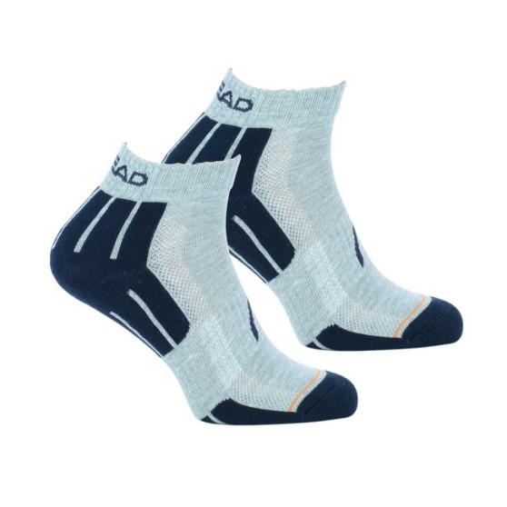2PACK ponožky HEAD šedé (741018001 650)