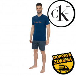 Pánské pyžamo Calvin Klein modré (NM1746E-PBD)