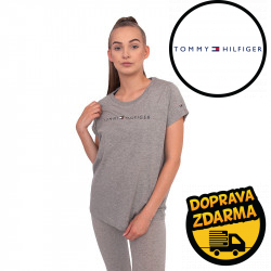 Dámské tričko Tommy Hilfiger šedé (UW0UW01618 004)