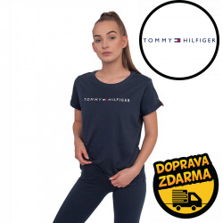 Dámské tričko Tommy Hilfiger tmavě modré (UW0UW01618 416)