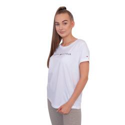 Dámské tričko Tommy Hilfiger bílé (UW0UW01618 100)