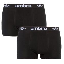 2PACK pánské boxerky Umbro černé (UM1700G)