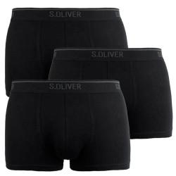 3PACK pánské boxerky S.Oliver černé (26.899.97.4243.12B2)