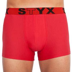 Pánské boxerky Styx sportovní guma nadrozměr červené (R1064)