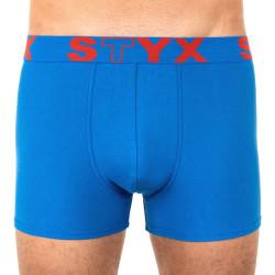 Pánské boxerky Styx sportovní guma nadrozměr modré (R967)