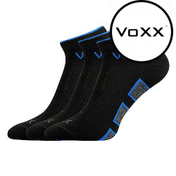 3PACK ponožky VoXX černé (Dukaton silproX)