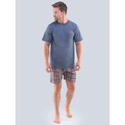Pánské pyžamo Gino nadrozměr tmavě šedé (79096)