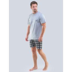 Pánské pyžamo Gino šedé (79098)