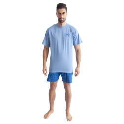 Pánské pyžamo Gino světle modré (79094)