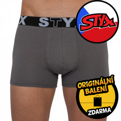 Pánské boxerky Styx sportovní guma nadrozměr tmavě šedé (R1063)