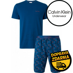 Pánské pyžamo Calvin Klein modré (NM1536E-9UO)