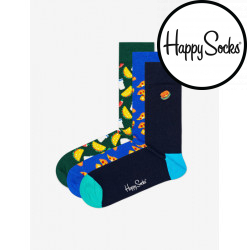 3PACK ponožky Happy Socks Junk food socks gift box (XJUN08-0100)