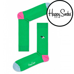 Ponožky Happy Socks Ribb Embroidery Yin Yang Cow (REYYC01-7300)