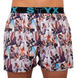 Pánské trenky Styx art sportovní guma modelky - limitovaná edice (B1051)