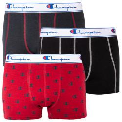 3PACK pánské boxerky Champion červené s logem (Y081W)