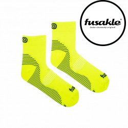 Veselé sportovní kompresní ponožky Fusakle kotník zelený (--0764)