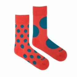 Veselé ponožky Fusakle diskoš terakoto (--1085)