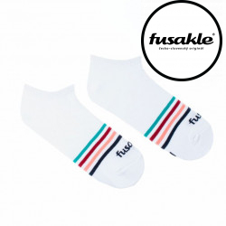 Veselé ponožky Fusakle proužek bílý (--0950)