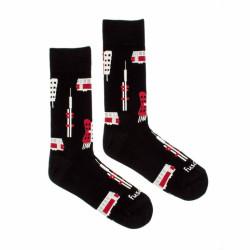 Veselé ponožky Fusakle Praha ikony (--0433)