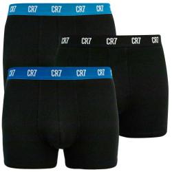 3PACK pánské boxerky CR7 černé (8100-49-2679)