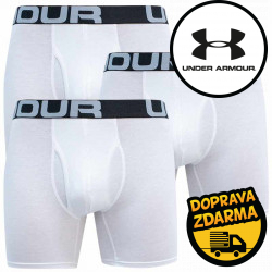 3PACK pánské boxerky Under Armour bílé (1363617 100)