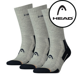 3PACK ponožky HEAD šedé (741020001 650)