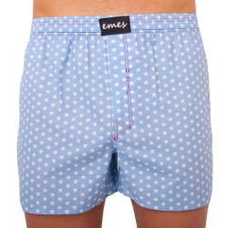 Pánské trenky Emes hvězdy na světlé modré (004)