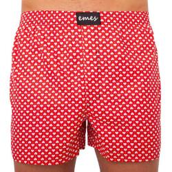 Pánské trenky Emes červené se srdíčky (027)