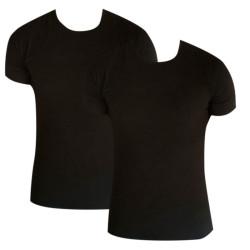 2PACK pánské tričko Calvin Klein 2P ss crew neck černé (NB1088A-001)
