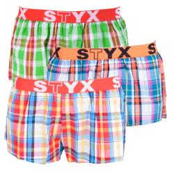 3PACK dámské trenky Styx sportovní guma vícebarevné (T6212233)