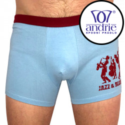 Pánské boxerky Andrie světle modré (PS 5170 B)