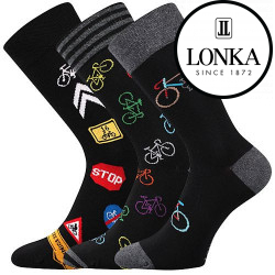 3PACK ponožky Lonka černé (Depate mix R)