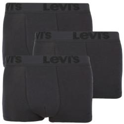 3PACK pánské boxerky Levis černé (905042001 001)
