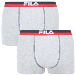 2PACK pánské boxerky Fila šedé (FU5020/2-400)