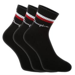 3PACK ponožky Champion černé (Y0B0A)