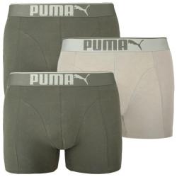 3PACK pánské boxerky Puma khaki (100000896 006)