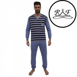Pánské pyžamo Foltýn nadrozměr modré (FPDN8)
