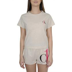 Dámské pyžamo CK ONE béžové (QS6443E-GGE)
