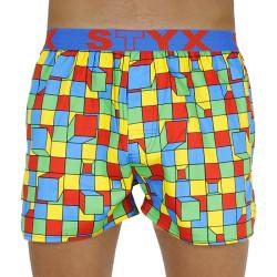Pánské trenky Styx art sportovní guma kostky (B959)