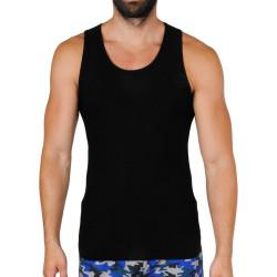 Pánské tílko Gino bambusové černé (58008)