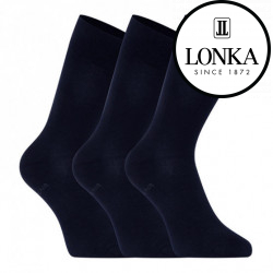 3PACK ponožky Lonka tmavě modré (Bioban)