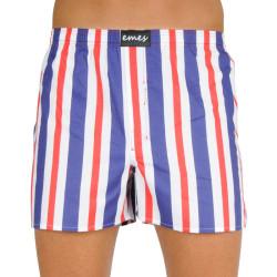 Pánské trenky Emes pruhy modré, červené  (035)