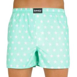 Pánské trenky Emes hvězdy na zelené  (036)