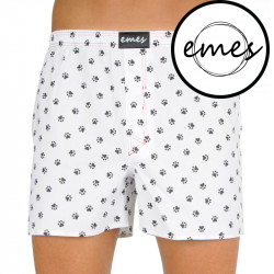 Pánské trenky Emes černé tlapky (037)