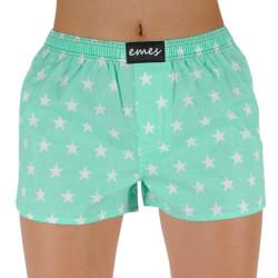 Dámské trenky Emes hvězdy na zelené  (036)