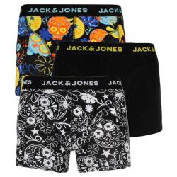3PACK pánské boxerky Jack and Jones vícebarevné (12185485)