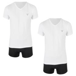2PACK pánské tričko Guess bílé (U97G03JR003-A009)